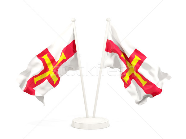 Two waving flags of guernsey Stock photo © MikhailMishchenko