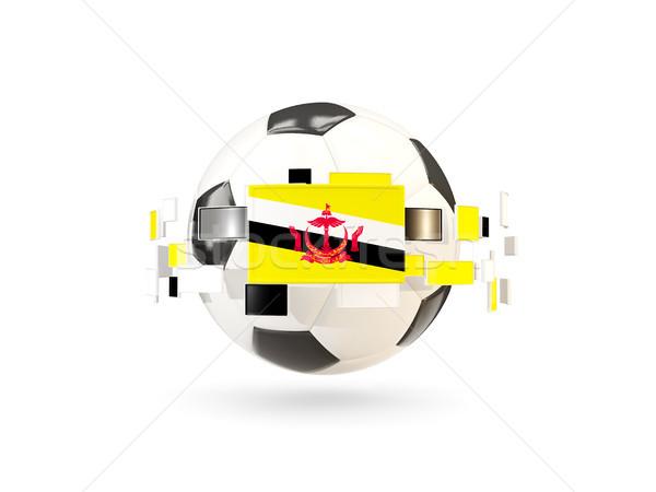 футбольным мячом линия флагами флаг Бруней Сток-фото © MikhailMishchenko