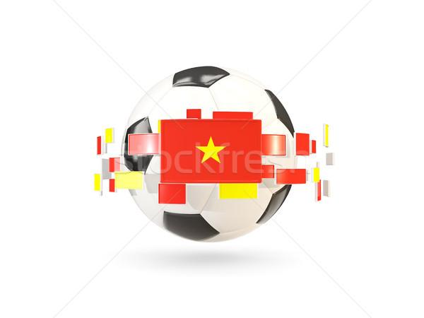 футбольным мячом линия флагами флаг Вьетнам Сток-фото © MikhailMishchenko