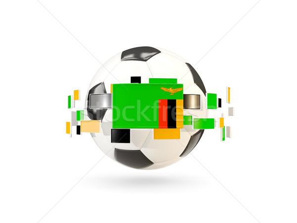 футбольным мячом линия флагами флаг Замбия Сток-фото © MikhailMishchenko