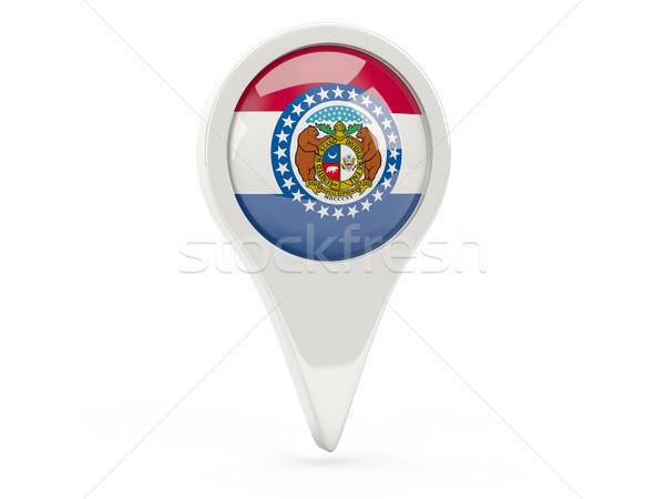Round flag pin with flag of missouri. United states local flags Stock photo © MikhailMishchenko