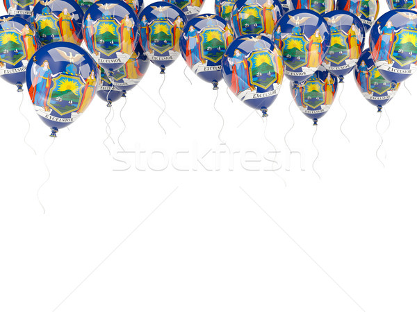 Balloons frame with flag of new york. United states local flags Stock photo © MikhailMishchenko