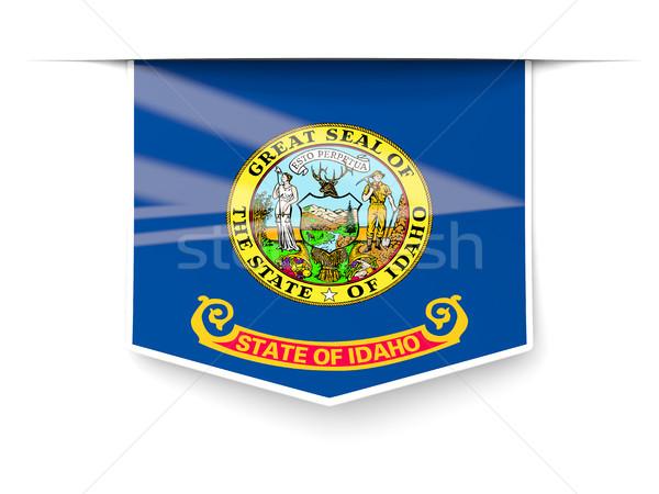 Idaho bayrak kare etiket gölge Amerika Birleşik Devletleri Stok fotoğraf © MikhailMishchenko