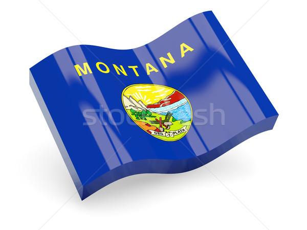 Ondulato icona Montana bandiera Foto d'archivio © MikhailMishchenko