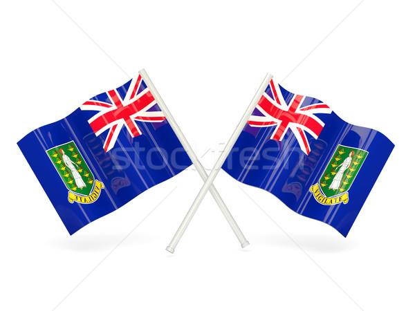 флаг Виргинские о-ва британский два волнистый флагами Сток-фото © MikhailMishchenko