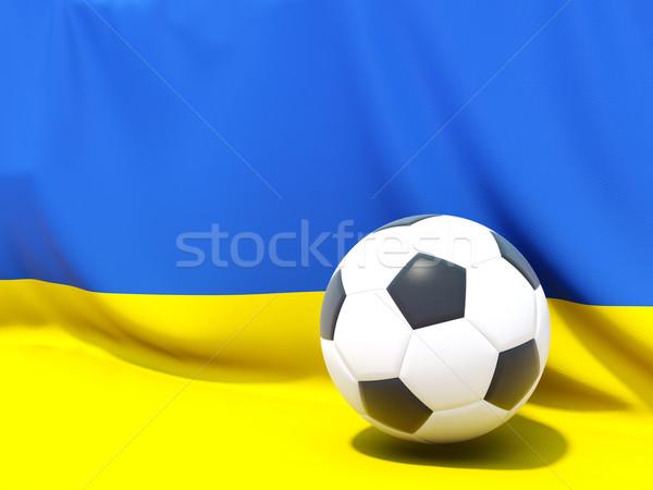 Bandera Ucrania fútbol equipo país Foto stock © MikhailMishchenko