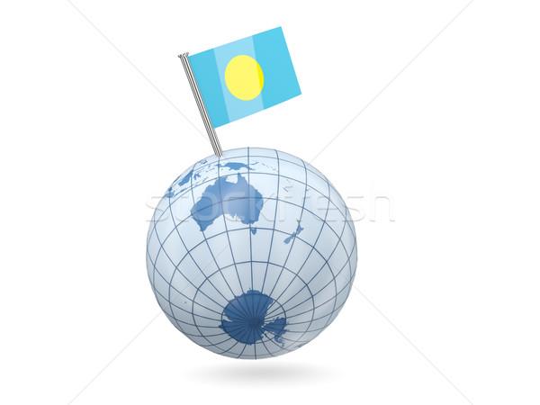 世界中 フラグ パラオ 青 孤立した 白 ストックフォト © MikhailMishchenko