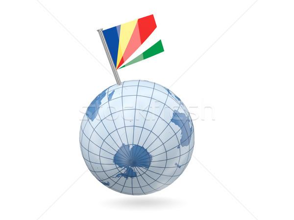 мира флаг Сейшельские острова синий изолированный белый Сток-фото © MikhailMishchenko