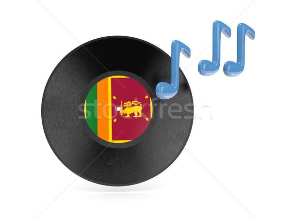 Stockfoto: Vinyl · schijf · vlag · Sri · Lanka · geïsoleerd · witte
