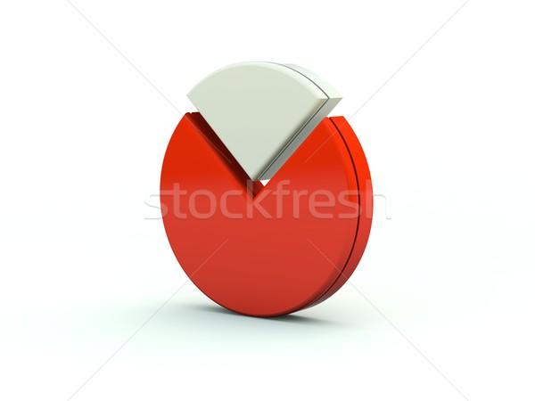 Diagramma icona rosso grafico grafico stock Foto d'archivio © MikhailMishchenko