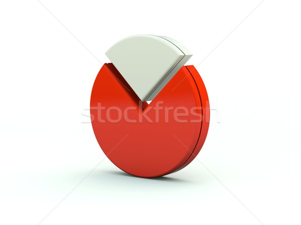 Diagram icon Rood grafiek grafiek voorraad Stockfoto © MikhailMishchenko
