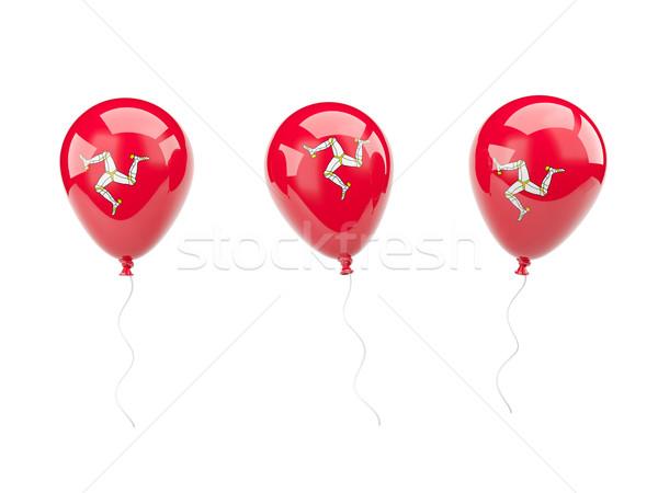 Air balloons with flag of isle of man Stock photo © MikhailMishchenko