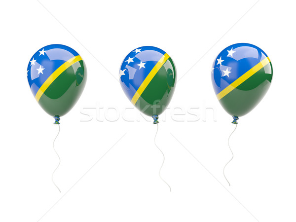 Air balloons with flag of solomon islands Stock photo © MikhailMishchenko