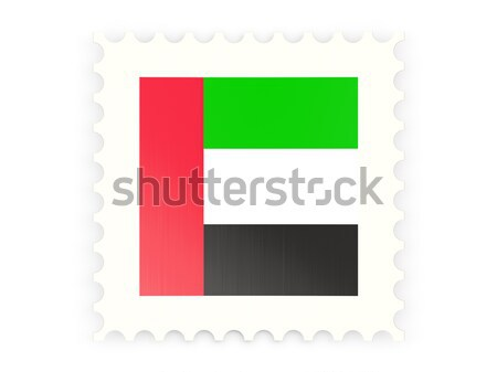 ícone Emirados Árabes Unidos isolado branco assinar Foto stock © MikhailMishchenko