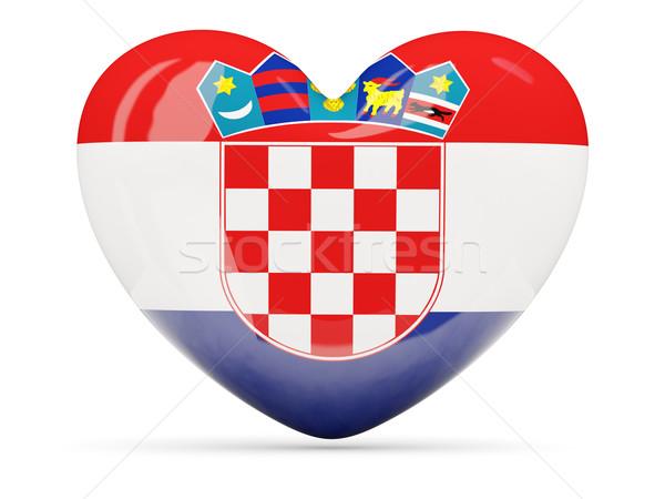 Corazón icono bandera Croacia aislado Foto stock © MikhailMishchenko