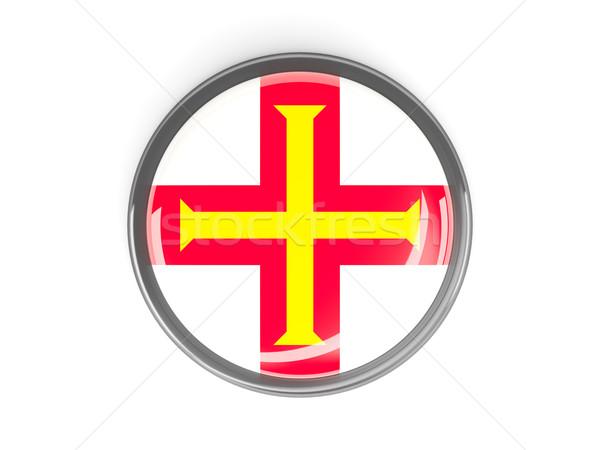 Round button with flag of guernsey Stock photo © MikhailMishchenko