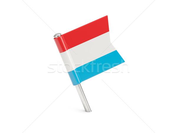 Vlag pin Luxemburg geïsoleerd witte Stockfoto © MikhailMishchenko