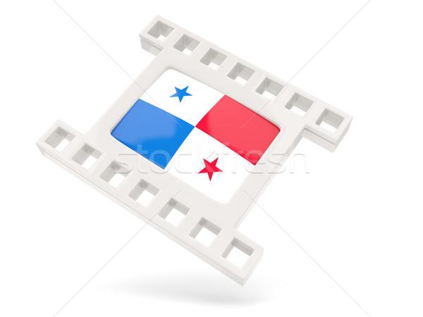 Film ikon zászló Panama izolált fehér Stock fotó © MikhailMishchenko