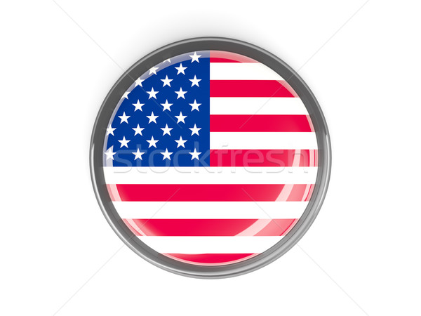 Round button with flag of united states of america Stock photo © MikhailMishchenko