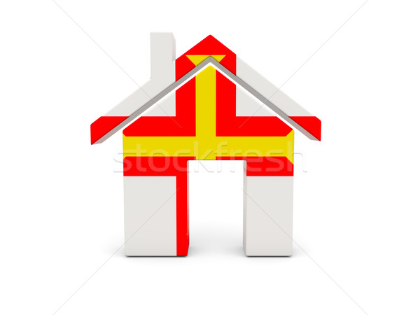 Home with flag of guernsey Stock photo © MikhailMishchenko