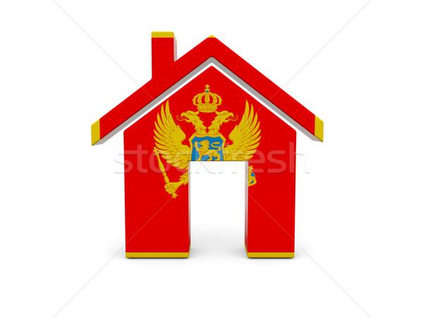 Home with flag of montenegro Stock photo © MikhailMishchenko