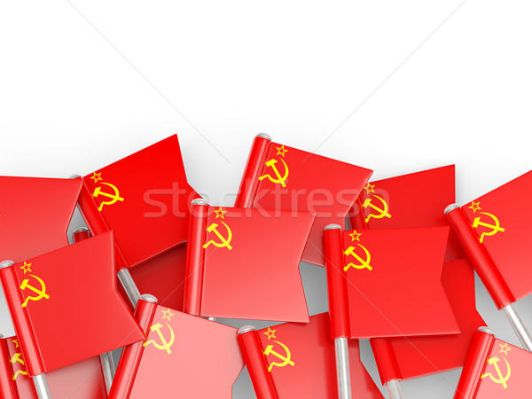 Bandera pin urss aislado blanco fondo Foto stock © MikhailMishchenko
