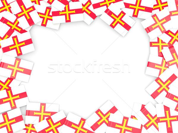 Frame with flag of guernsey Stock photo © MikhailMishchenko