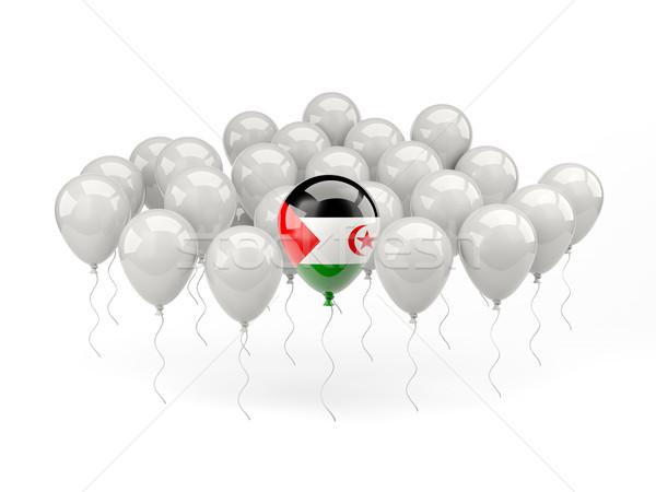 Lucht ballonnen vlag westerse sahara geïsoleerd Stockfoto © MikhailMishchenko