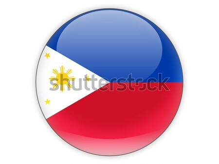 Icône pavillon Philippines signe blanche Photo stock © MikhailMishchenko