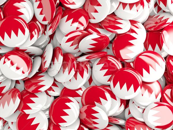 Bandeira Bahrein fundo país pin círculo Foto stock © MikhailMishchenko