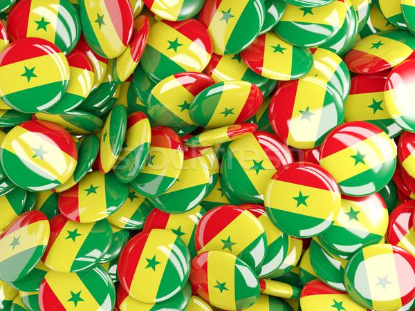Bandeira Senegal fundo país pin círculo Foto stock © MikhailMishchenko