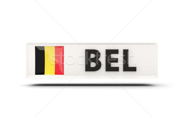 Tér ikon zászló Belgium iso kód Stock fotó © MikhailMishchenko