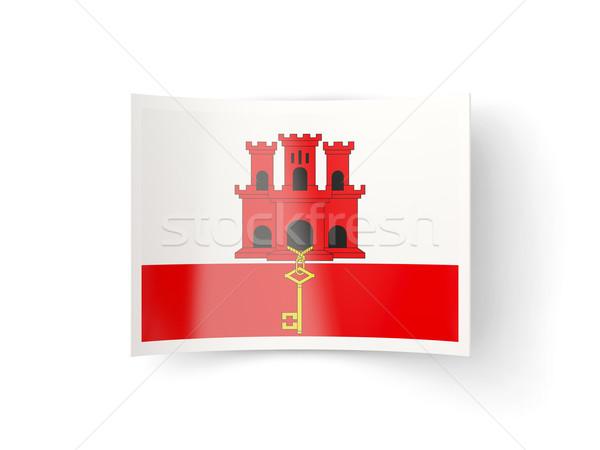 Bent icon with flag of gibraltar Stock photo © MikhailMishchenko