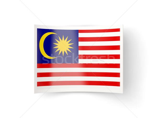 Ikon zászló Malajzia izolált fehér vidék Stock fotó © MikhailMishchenko