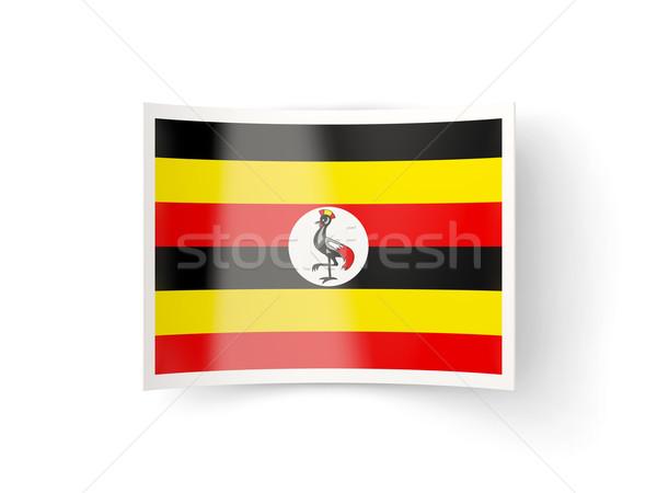 Ikon bayrak Uganda yalıtılmış beyaz ülke Stok fotoğraf © MikhailMishchenko