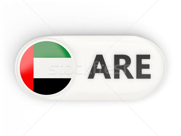Round icon with flag of united arab emirates Stock photo © MikhailMishchenko