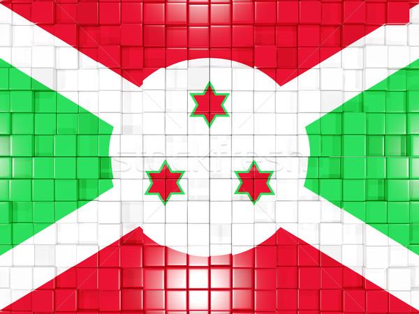 Praça bandeira Burundi ilustração 3d mosaico Foto stock © MikhailMishchenko