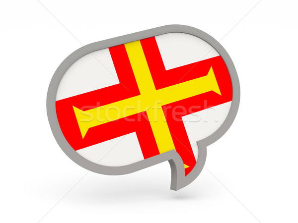 Chat icon with flag of guernsey Stock photo © MikhailMishchenko