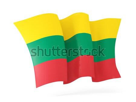 フラグ リトアニア 3次元の図 孤立した 白 ストックフォト © MikhailMishchenko