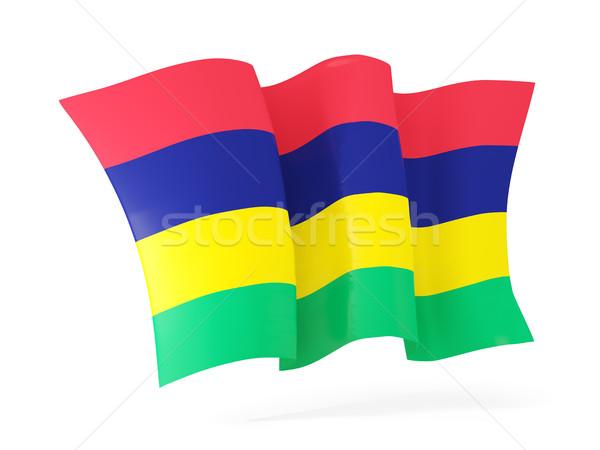 флаг Маврикий 3d иллюстрации изолированный белый Сток-фото © MikhailMishchenko