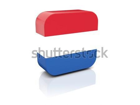 Piazza icona bandiera Paesi Bassi illustrazione 3d isolato Foto d'archivio © MikhailMishchenko