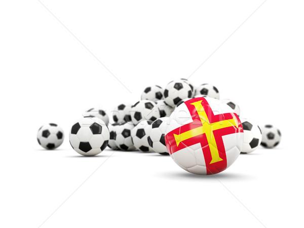 Football with flag of guernsey isolated on white Stock photo © MikhailMishchenko