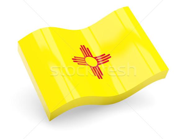 Bayrak yeni dalga ikon yalıtılmış beyaz Stok fotoğraf © MikhailMishchenko