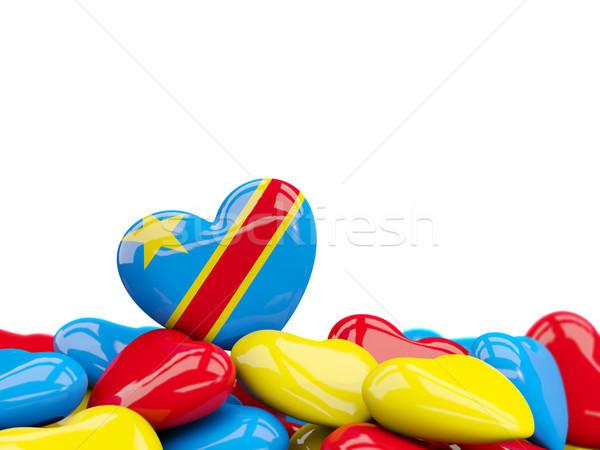 сердце флаг демократический республика Конго Top Сток-фото © MikhailMishchenko