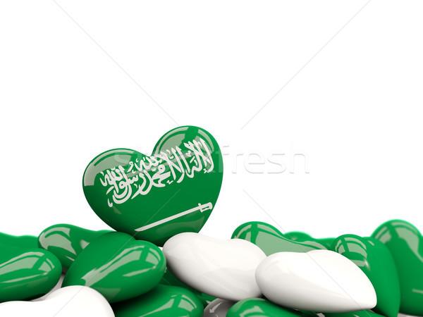 Szív zászló Szaúd-Arábia felső szívek izolált Stock fotó © MikhailMishchenko