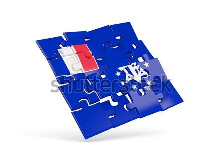 Puzzle pavillon Grèce isolé blanche 3d illustration Photo stock © MikhailMishchenko