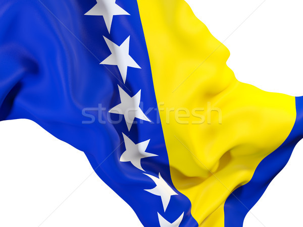 Bandera Bosnia Herzegovina primer plano 3d viaje Foto stock © MikhailMishchenko