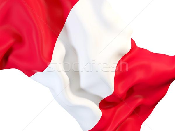 Integet zászló Peru közelkép 3d illusztráció utazás Stock fotó © MikhailMishchenko