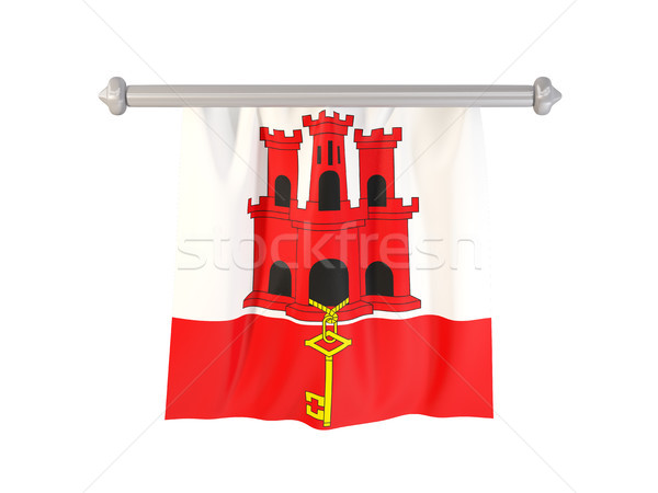 Stock photo: Pennant with flag of gibraltar