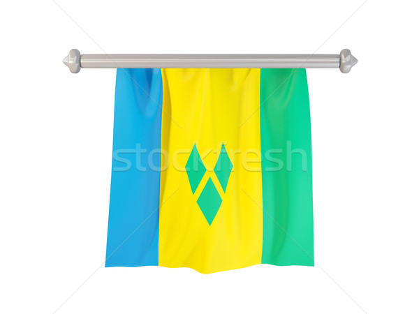Pennant with flag of saint vincent and the grenadines Stock photo © MikhailMishchenko